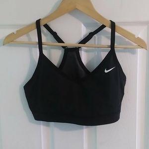 Nike Black Sports Bra with a see-thru back mesh